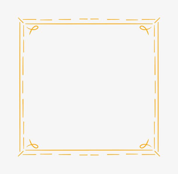 卡通几何边框装饰图案