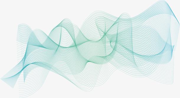科技感绿色的波纹