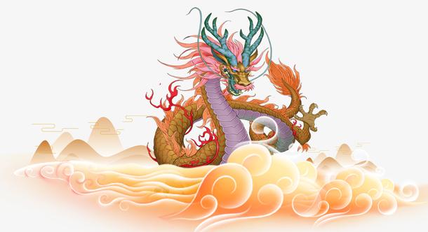 中国龙装饰插画素材
