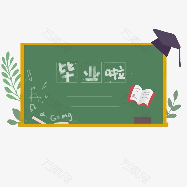 手绘毕业季毕业啦黑板板画