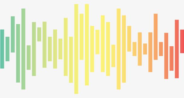 彩虹色声波波纹图