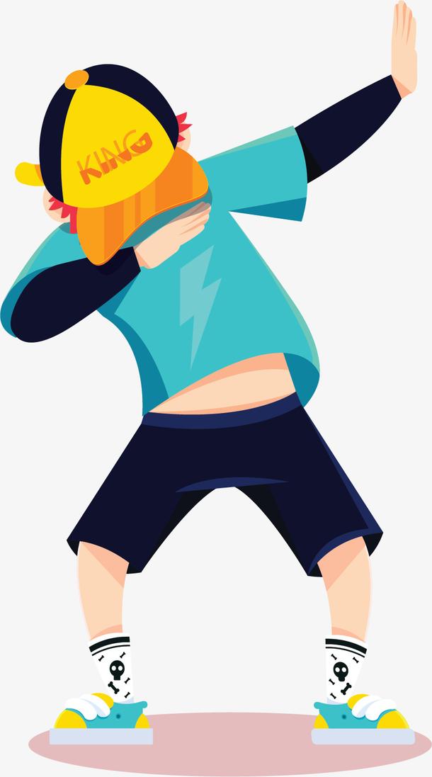 炫酷的跳街舞男孩