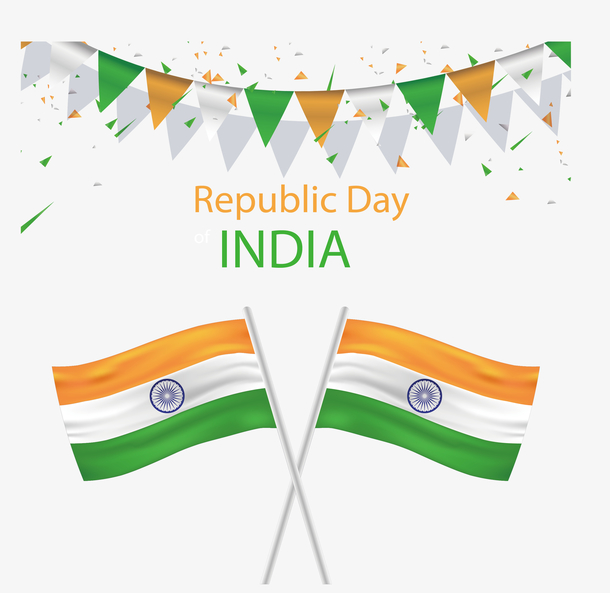 交叉印度国旗海报