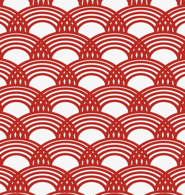 矢量中式波纹