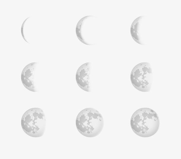 矢量元素月亮