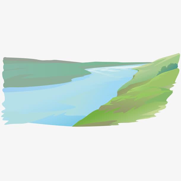 矢量河流素材