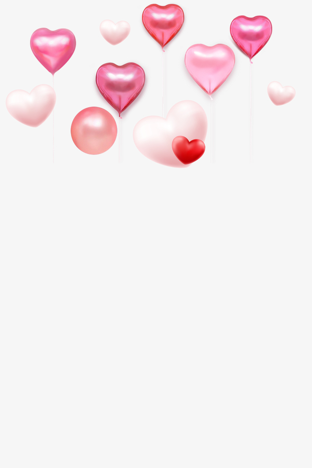 情人节爱心气球元素