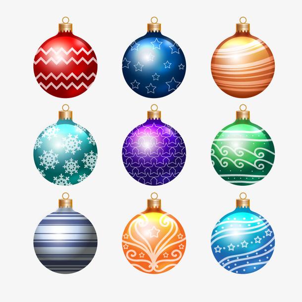矢量圣诞装饰球