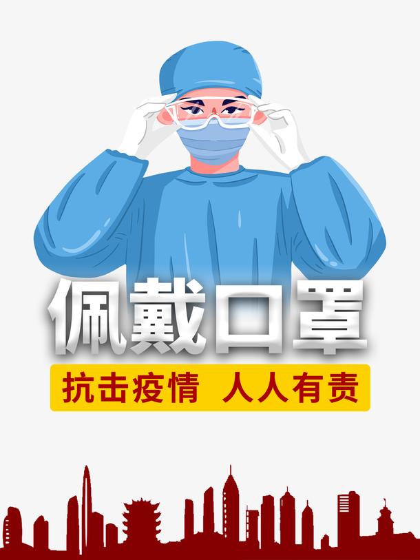口罩疫情护士抗击疫情新型冠状病毒