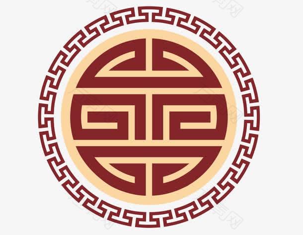 中式圆形传统雕花