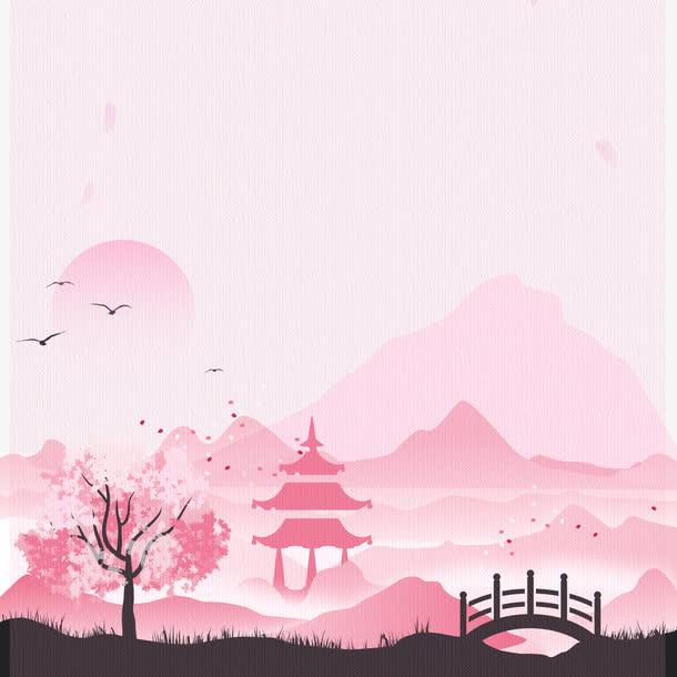 日系建筑插画