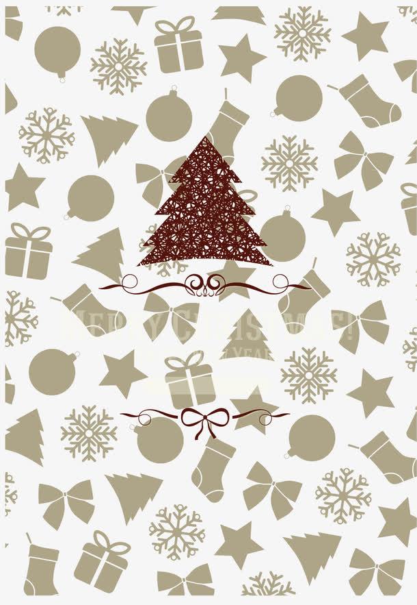 圣诞节海报矢量背景
