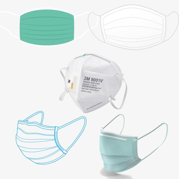疫情口罩一次性口罩n95口罩手绘口罩
