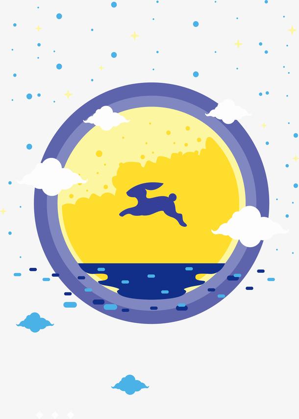 金黄色的圆月