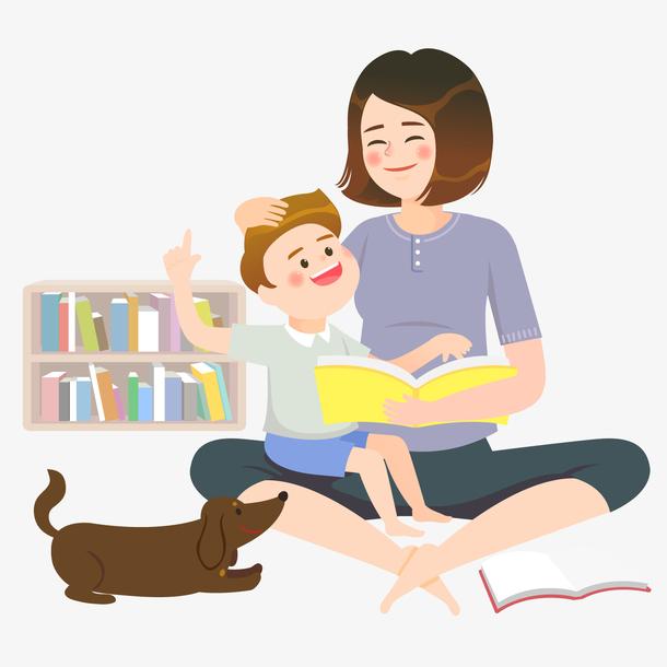 一张母亲抱着儿子的矢量图