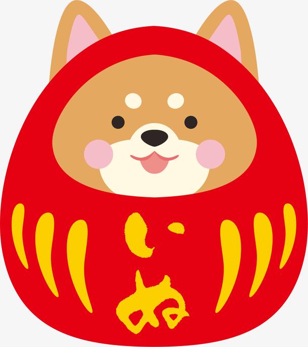 卡通手绘福娃狗狗形象设计