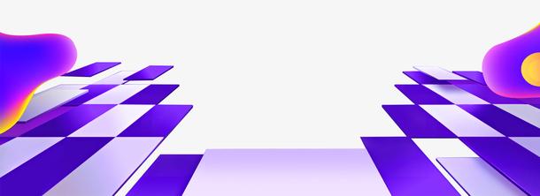 紫色舞台电商风霓虹灯淘宝促销b