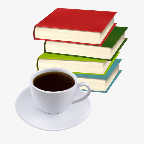 书本与咖啡矢量图