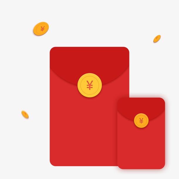 新年红包金币素材设计