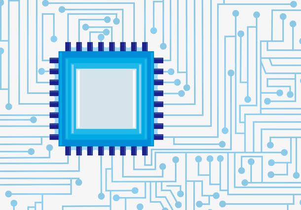 矢量蓝色电板科技纹路平面素材