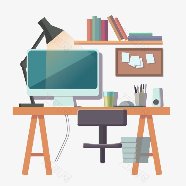 电脑美式家居书桌