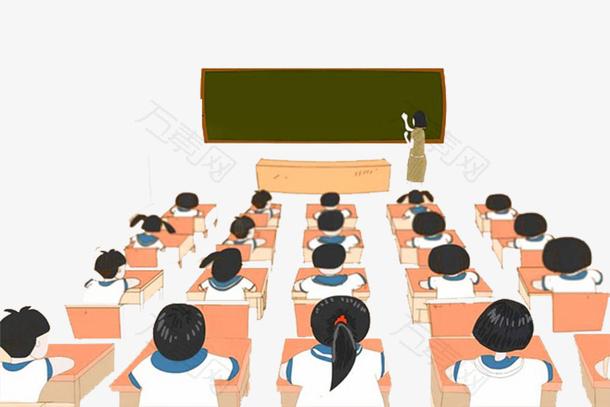 手绘教师节课室设计