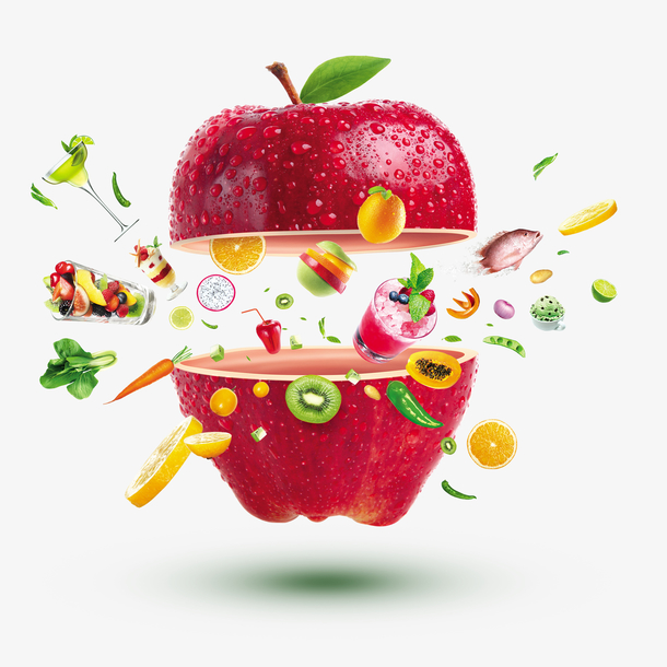 水果苹果美食素材