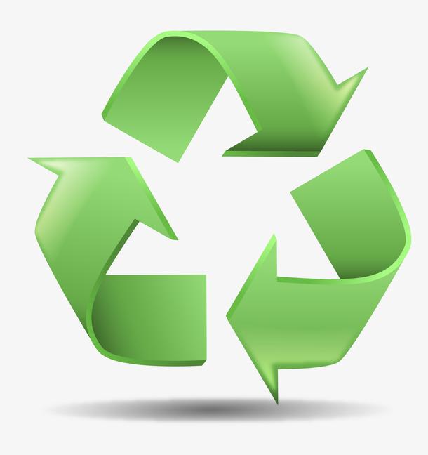 矢量绿色循环箭头素材图