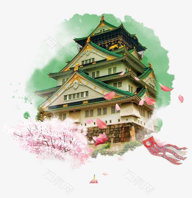 日本大阪城旅游装饰