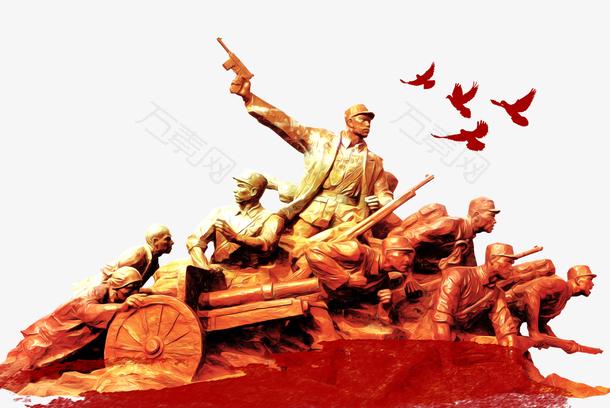 建军节九十周年人物雕像