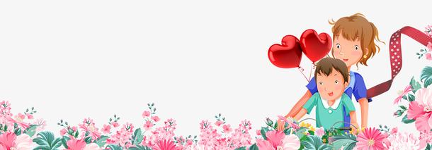 感恩母亲节温馨鲜花装饰边框