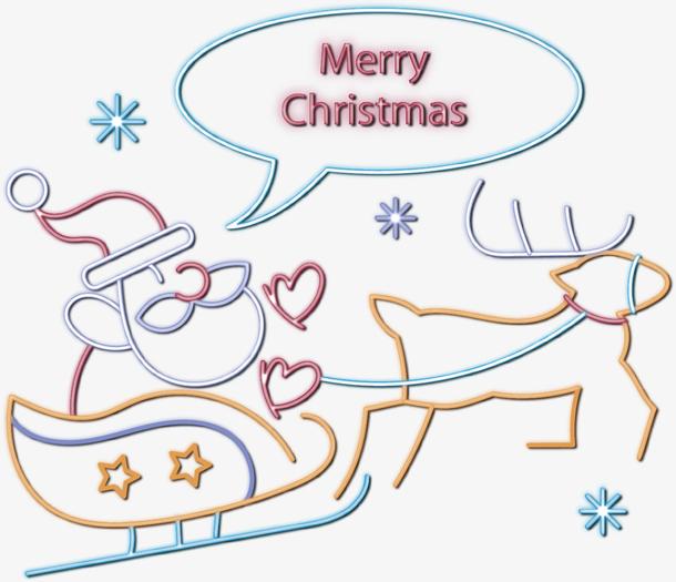 矢量图创意圣诞老人和麋鹿