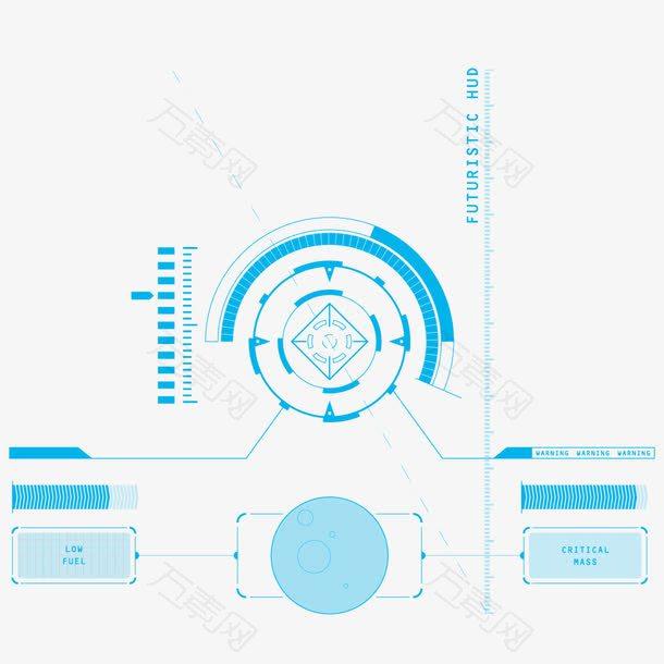 蓝色科技生活学习场景设计素材