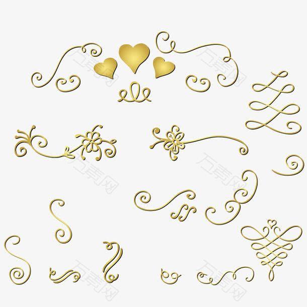 欧式花纹线条装饰线