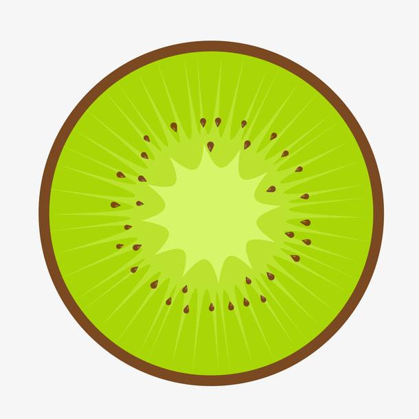 扁平化猕猴桃水果设计