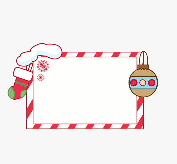 手绘圣诞袜子装饰图案