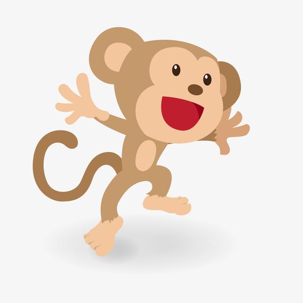 卡通猴子动物矢量