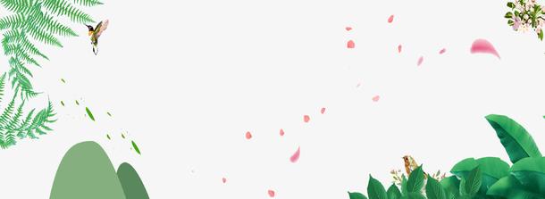 绿色清新夏至海报banner