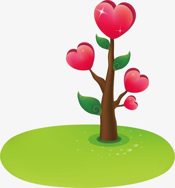 心形植物png矢量素材