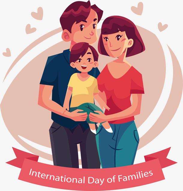 幸福家庭插画设计