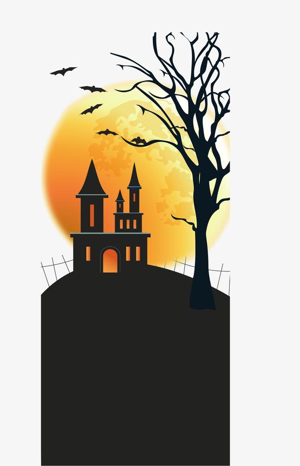 万圣节之夜的城堡