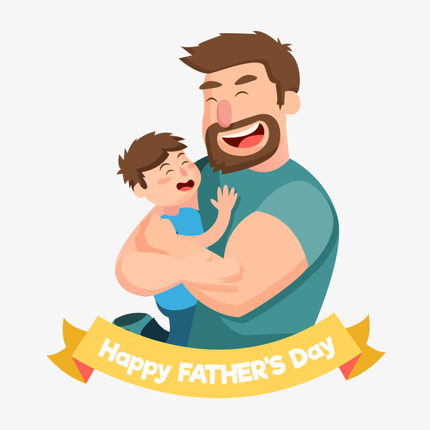 父亲节唯美手绘展板