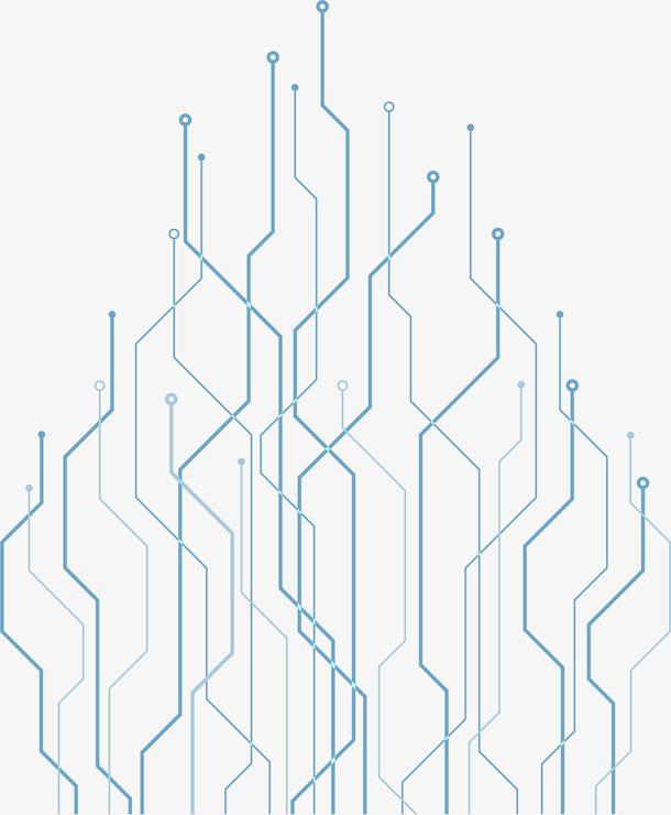 手绘电脑科技线条