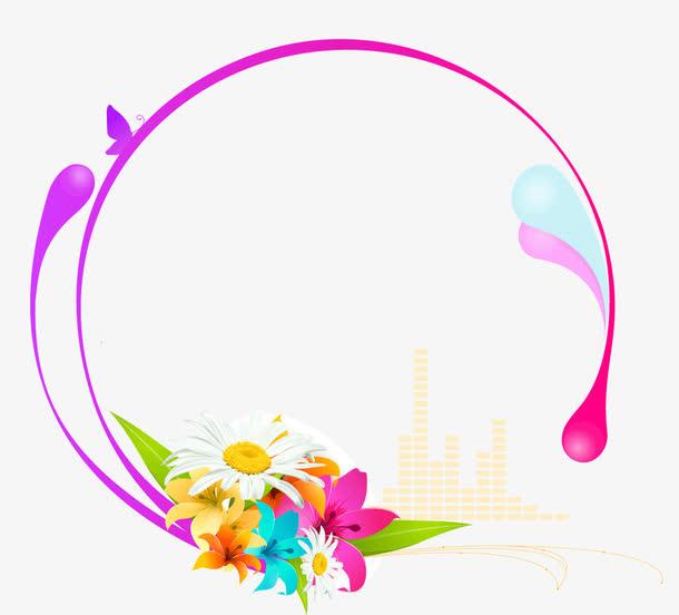 时尚花朵花纹装饰