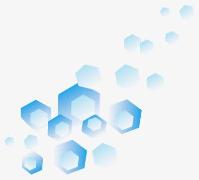 蓝色六边形创意科技元素