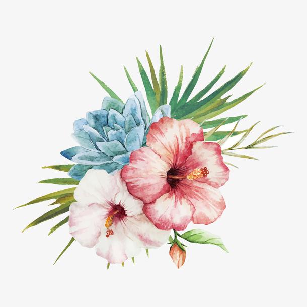 母亲节花朵装饰素材