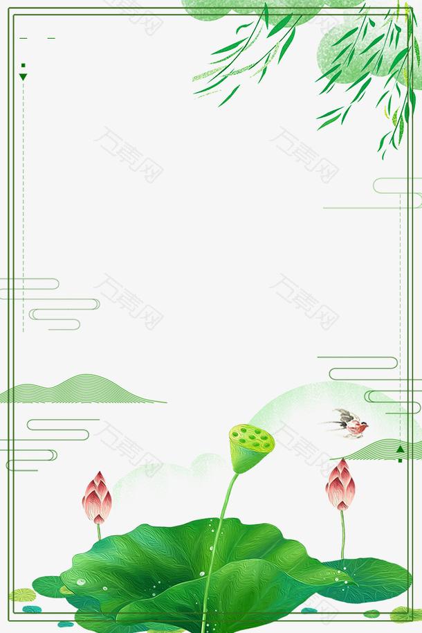 二十四节气之春分绿色植物春意边