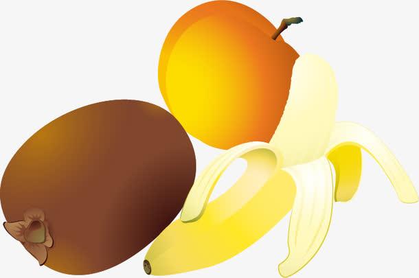香蕉猕猴桃杏水果png矢量素材
