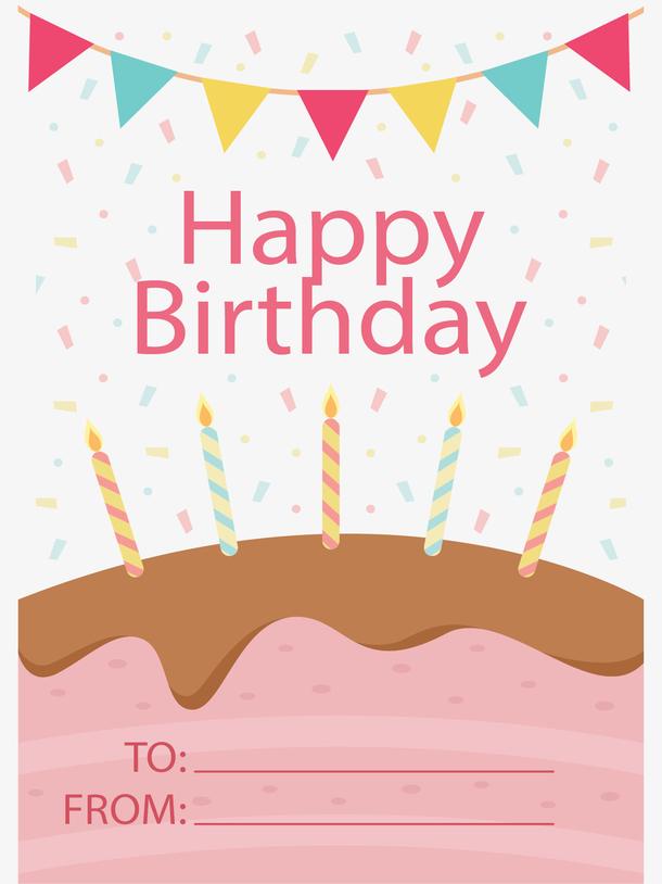 生日蛋糕祝贺卡片