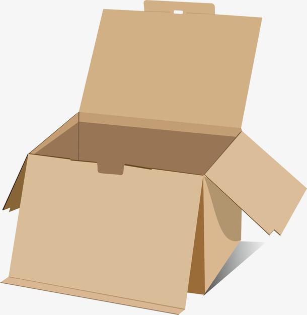 矢量图棕色纸盒子